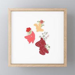 Women and Flowers Framed Mini Art Print