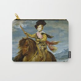 """Diego Velázquez """"Equestrian Portrait of Prince Balthasar Charles"""" Carry-All Pouch"""