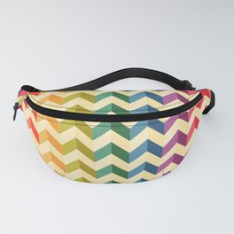 Rainbow triangle lines pattern Fanny Pack