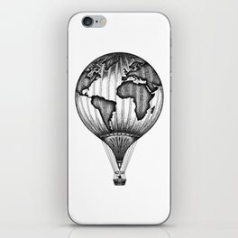 EXPLORE. THE WORLD IS YOURS. (No text) iPhone Skin