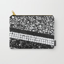 Terrazzo Pattern Black & White #1 #texture #decor #art #society6 Carry-All Pouch