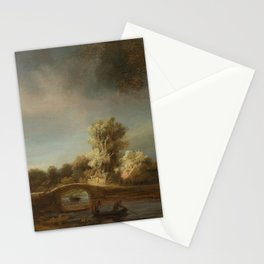 Landscape with a Stone Bridge Stationery Cards