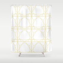 Gold Web Shower Curtain