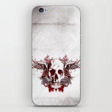 Dark Red Death's Head iPhone & iPod Skin