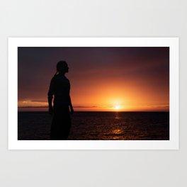 Sunset Sillhuette Art Print