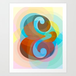 Geometric Ampersand Rainbow Art Print