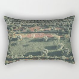 Italy Landscape, Drone photos, aerial photography, Puglia, countryside Rectangular Pillow