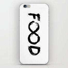 FOOD FOREVER -   Black Case   iPhone Skin