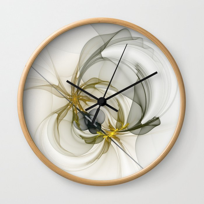 Together We Are Strong, Abstract Fractal Art Wall Clock