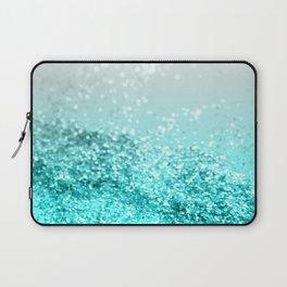 Silver Gray Aqua Teal Ocean Glitter #1 #shiny #decor #art #society6 Laptop Sleeve