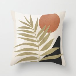 Tropical Leaf- Abstract Art 9 Throw Pillow
