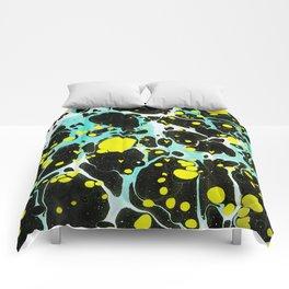 Space Blue Marbling Comforters