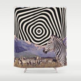 Zebraland Shower Curtain