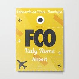 FCO Italy Rome Metal Print