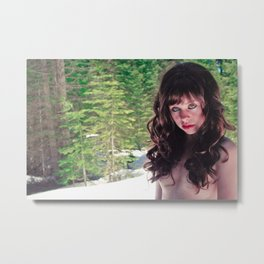 Bare In The Snow Metal Print