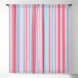 Stripe obsession color mode #5 Blackout Curtain