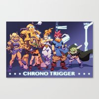 chrono trigger Canvas Prints featuring Chrono Trigger by Robaato