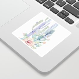 Mixed Cacti 2 #society6 #buyart Sticker