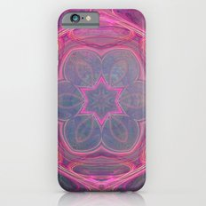 whimsical fractal love in pink iPhone 6s Slim Case