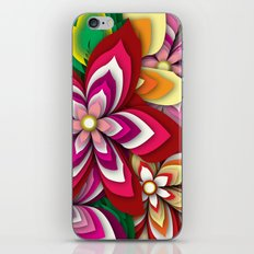 Colourful Flowers iPhone & iPod Skin