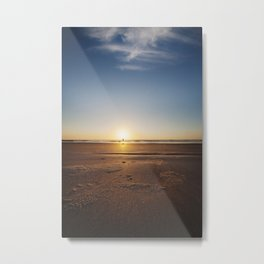 Beach Walk at Sunrise Metal Print