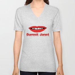 Damnit Janet! Unisex V-Neck