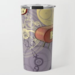 TIC TAC TIME violet Travel Mug