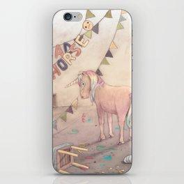 Sad horse (the unicorn) iPhone Skin