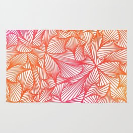 Triangle Illusion (Pink to Orange- Inverted) Rug