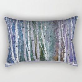 Winter Frost at Dusk Rectangular Pillow