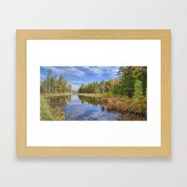 Moose Pond Panorama Framed Art Print