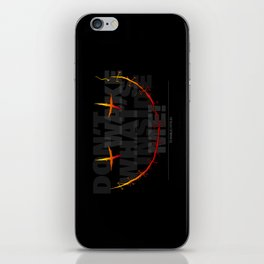don't wake what's inside me! iPhone Skin