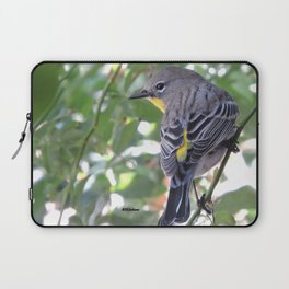 Audubon's Warbler in the Rose Vine Laptop Sleeve