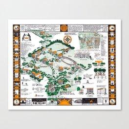 SYRACUSE campus map NEW YORK dorm decor graduate Canvas Print
