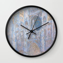 Rouen Cathedral, West Façade by Claude Monet Wall Clock