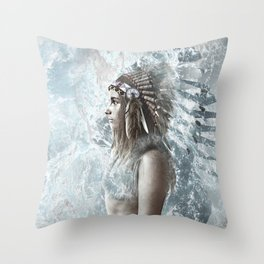 feather and the sea Throw Pillow