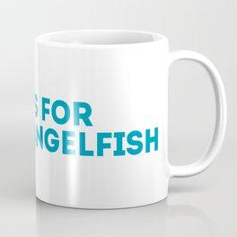 A is for Angelfish - Animal Alphabet Series Coffee Mug