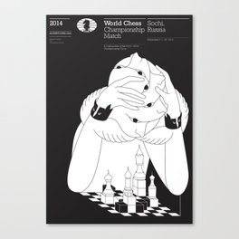 Sochi 2014 World Chess Championship Match Canvas Print