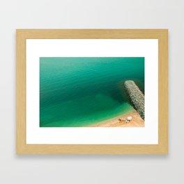 memories of palm jumeirah beach Framed Art Print