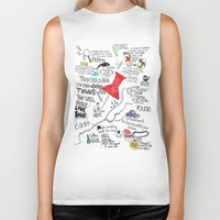 john green Biker Tanks featuring Paper towns, John Green by Natasha Ramon