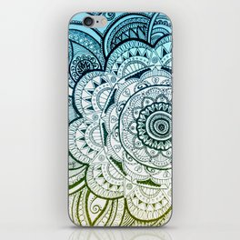 Mandala Blue Yellow iPhone Skin