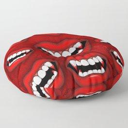 Vampire Bloody Fangs Floor Pillow