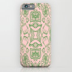Modern Icons - Tattoo - Day of the Dead - Pink and Green iPhone 6s Slim Case