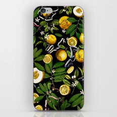 LEMON TREE Black iPhone & iPod Skin