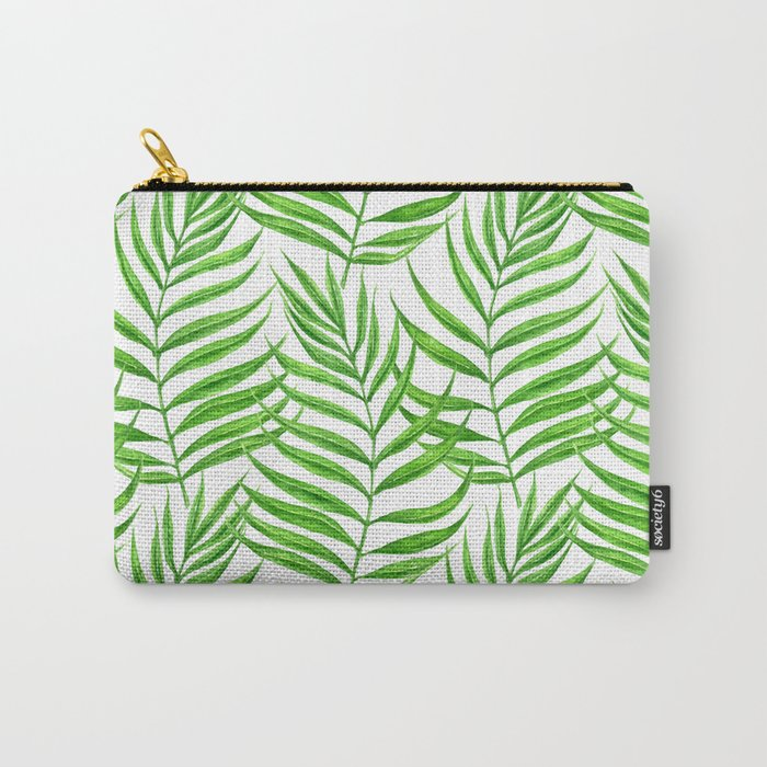 Palm leaves watercolor Carry-All Pouch