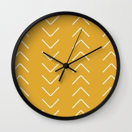 V / Yellow Wall Clock