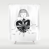 mother Shower Curtains featuring Mother by Bhavya Minocha