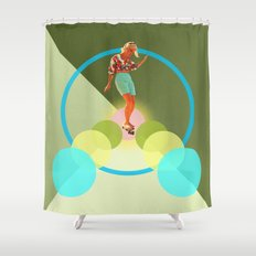 Skate for peace Shower Curtain
