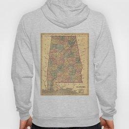 Vintage Map of Alabama (1848) Hoody