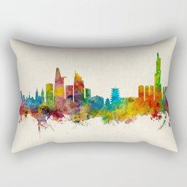 Ho Chi Minh City Saigon Vietnam Skyline Rectangular Pillow